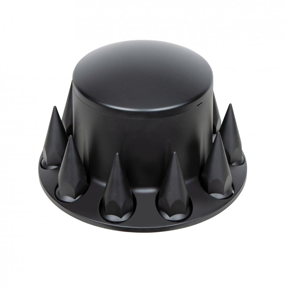 Dome Rear Axle Cover w/ 33mm Spike Thread-on Nut Cover - Matte Black