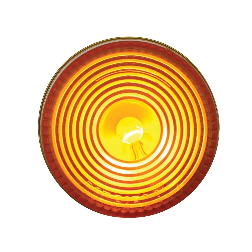 Mud Flap Hanger End Light w/ Grommet - Amber
