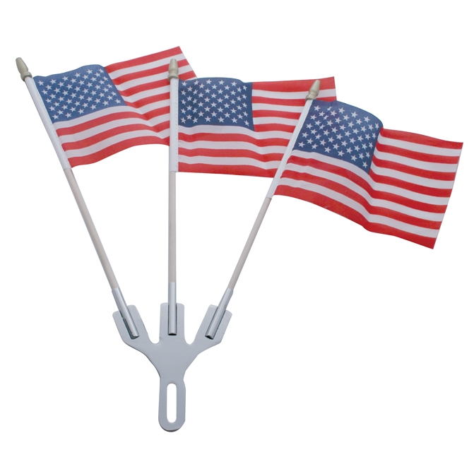 Stainless Steel 3-Post Flag Holder