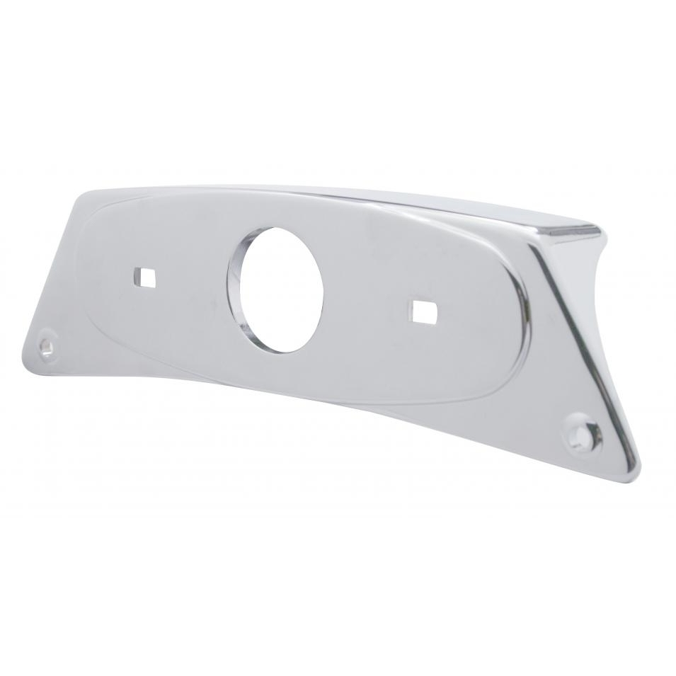 Rectangular Chrome Die Cast Fender Light Bracket Set