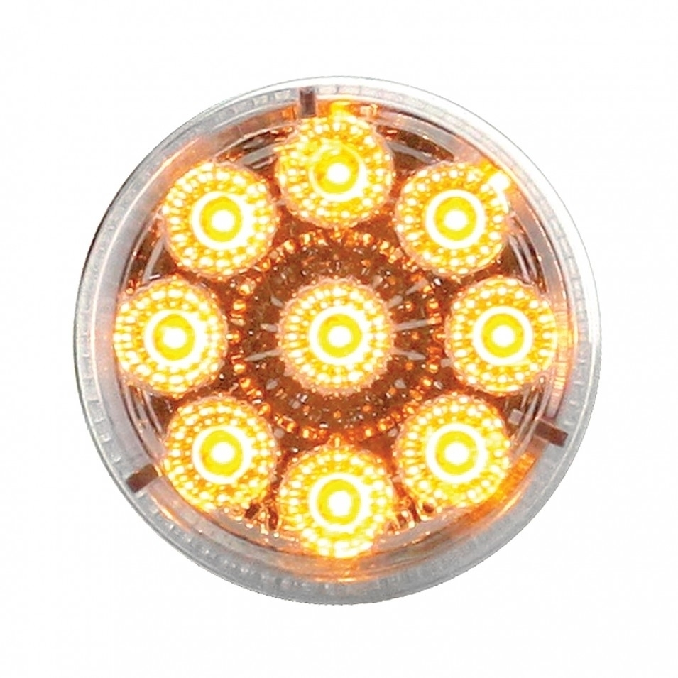 Peterbilt Air Cleaner Bracket Reflector Lights & Visors - Amber LED/Clear Lens