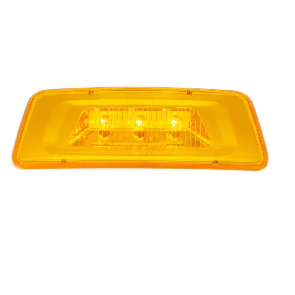 3 LED Fender Turn Signal/Parking Light for Kenworth T680/T700/T880 - Amber LED/Amber Lens