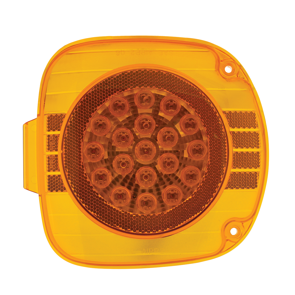 Freightliner 22 LED Turn Signal With Chrome Reflector - Amber LED/Amber Lens
