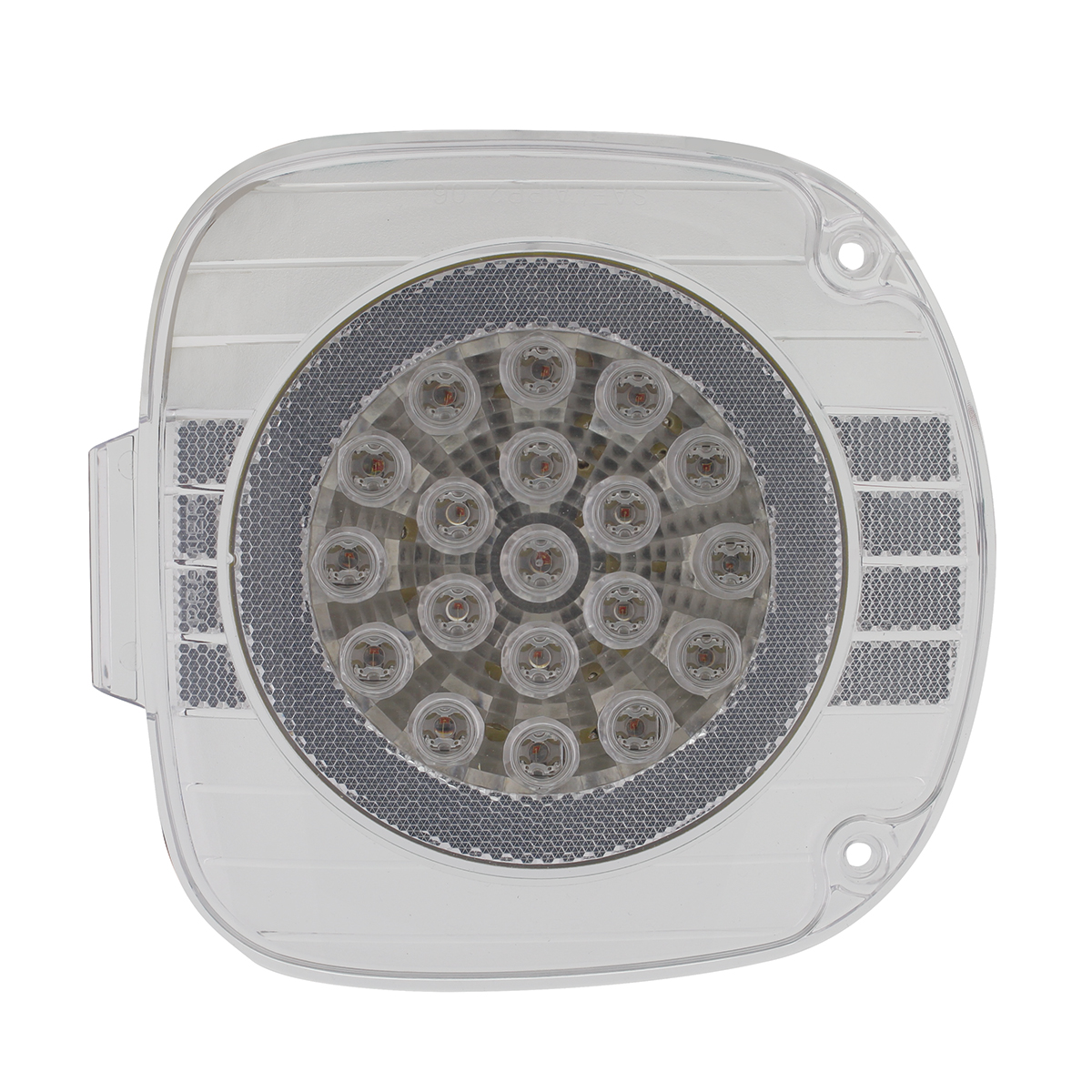 Freightliner 22 LED Turn Signal With Chrome Reflector - Amber LED/Clear Lens