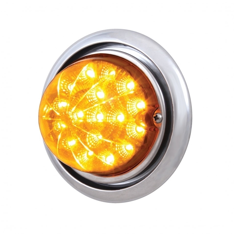 Freightliner Columbia Bumper Reflector Watermelon Light - Amber LED/Amber Lens