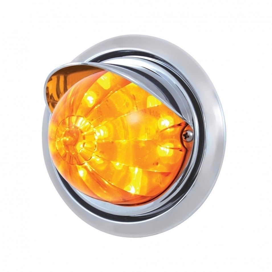 Freightliner 17 LED Watermelon Light & Visor - Amber LED/Amber Lens