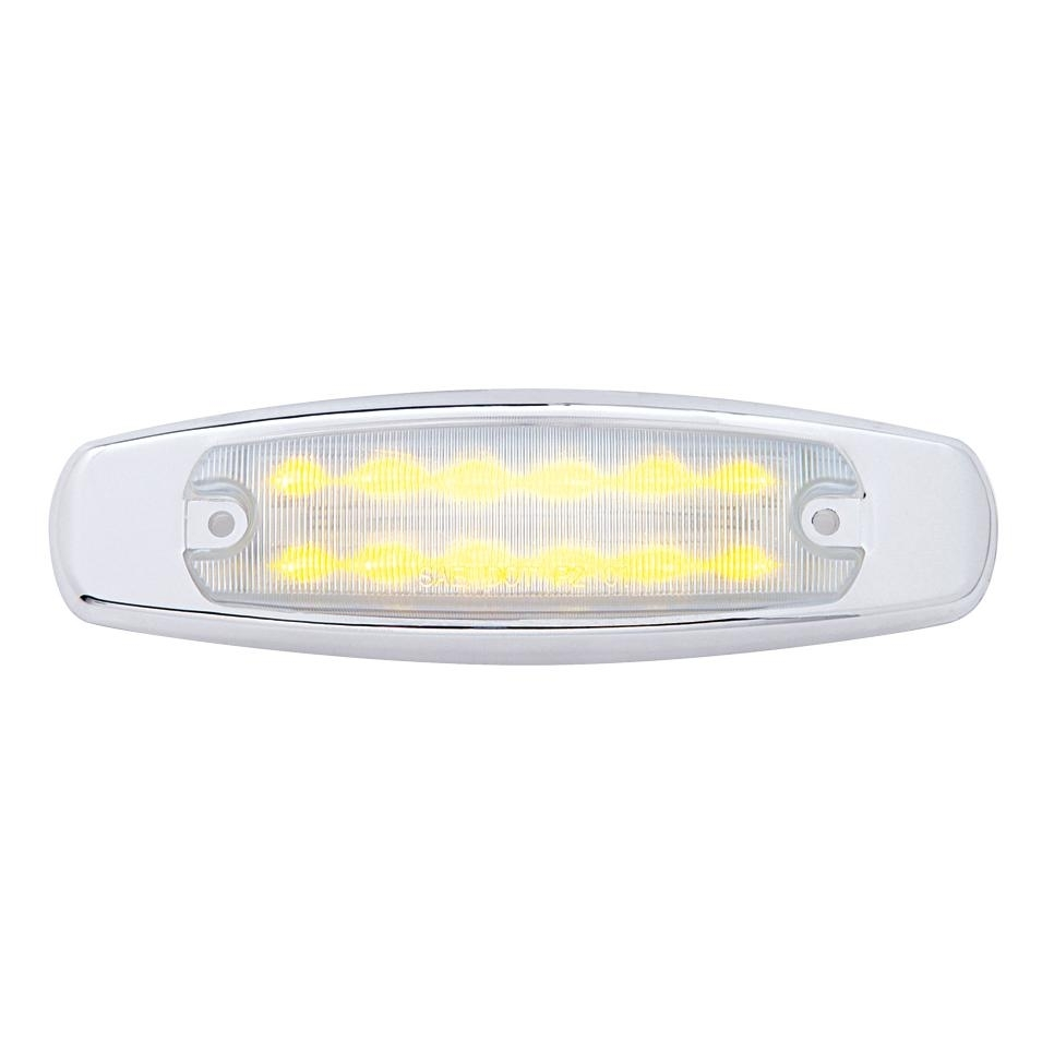 12 LED Headlight Turn Signal Cover - Amber LED/Clear Lens