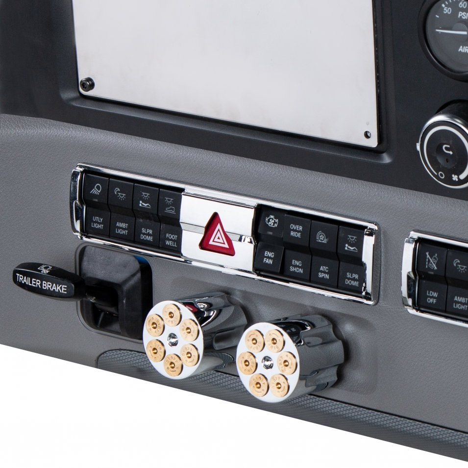 Hazard Switch Panel Trim for 2018+ Freightliner Cascadia - Chrome