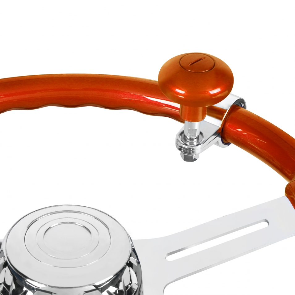 Heavy Duty Steering Wheel Spinner - Cadmium Orange