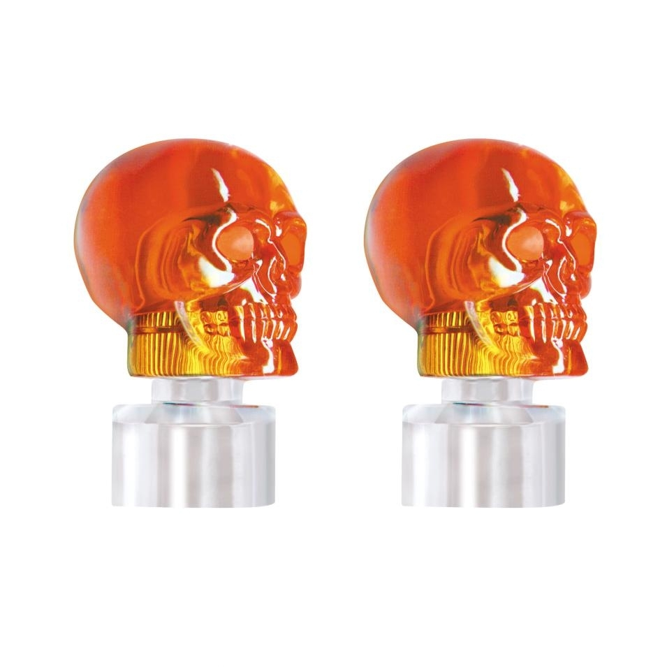Skull Bumper Guide Top - Amber (2 Pack)