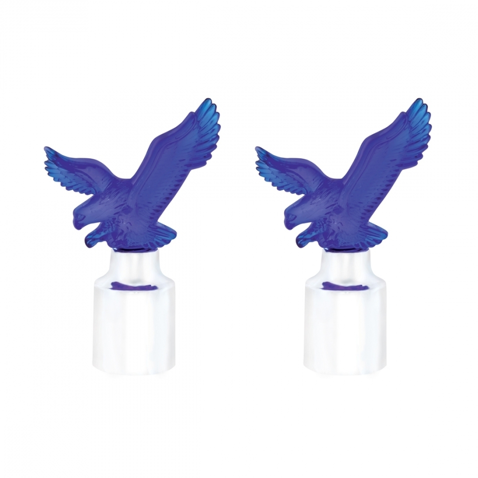 Eagle Bumper Guide Top w/ Chrome Base - Blue (2 Pack)