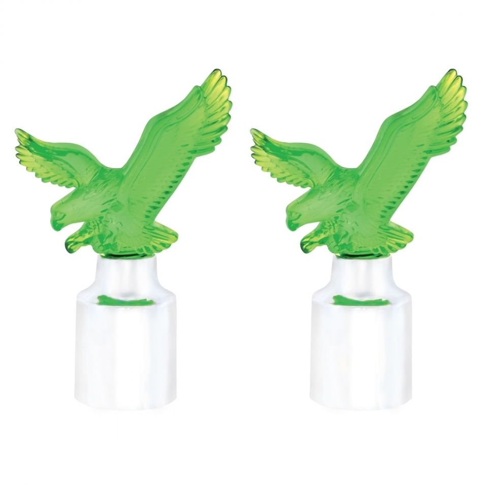 Eagle Bumper Guide Top w/ Chrome Base - Green (2 Pack)